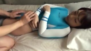 Japanese young girl drive man to orgasm