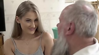 Teen belle vs age-old grandad - tiffany tatum with an increment of albert