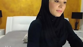 Arab hijab slut gang  &_ masturbation on cam