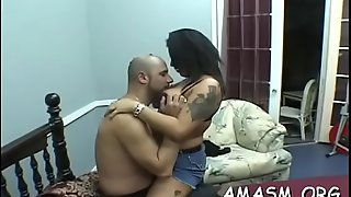 Massive tits big beautiful woman action with smothering and humiliation