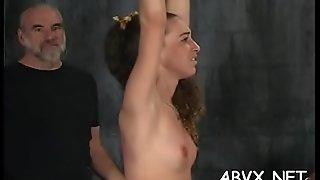 Cutie gets the fine ass spanked in sexy home movie scene scene