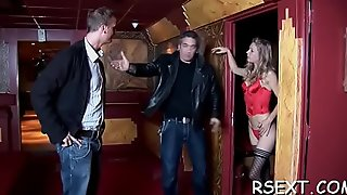 Lustful fellow visits the prostitutes and gets fat dick sucked