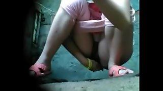 Cute Girl Voyeur Toilet Pissing