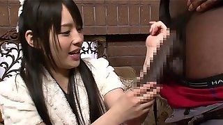 Ruka Kanae Black Threesome