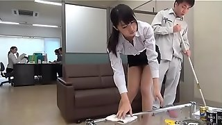 Horny office ladies ride their cleaning guy - full xfoxxx .com