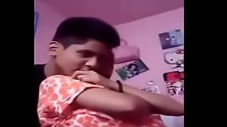 Indian Teen Boobs Pressed by Lover